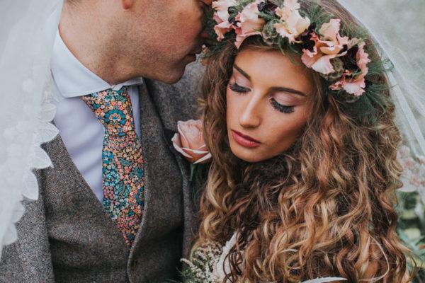 Ophelia, wedding, flower crown