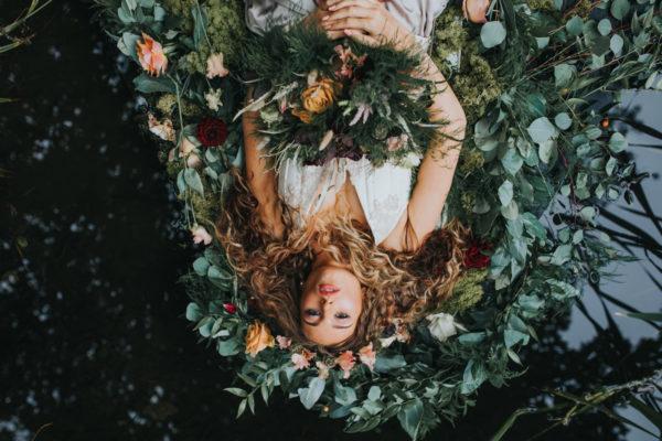 Ophelia, flower crown