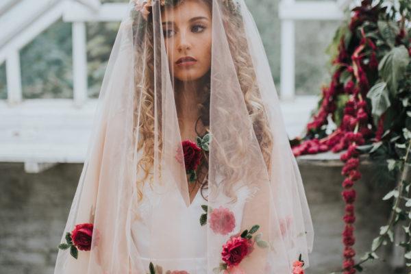 Ophelia, veil, backdrop