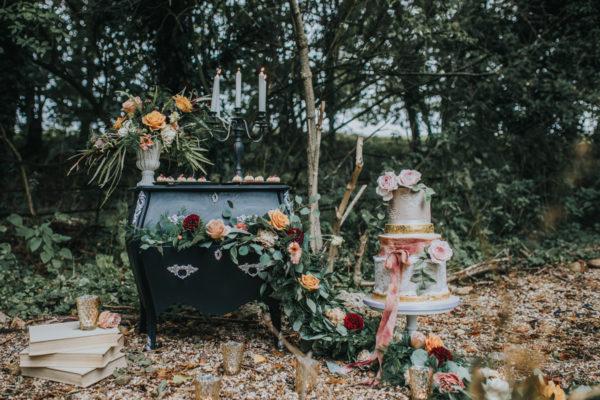 wedding cake, floral,