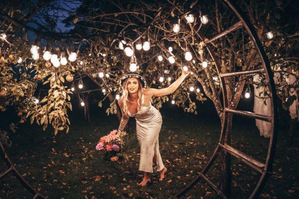 rustic woodland wedding