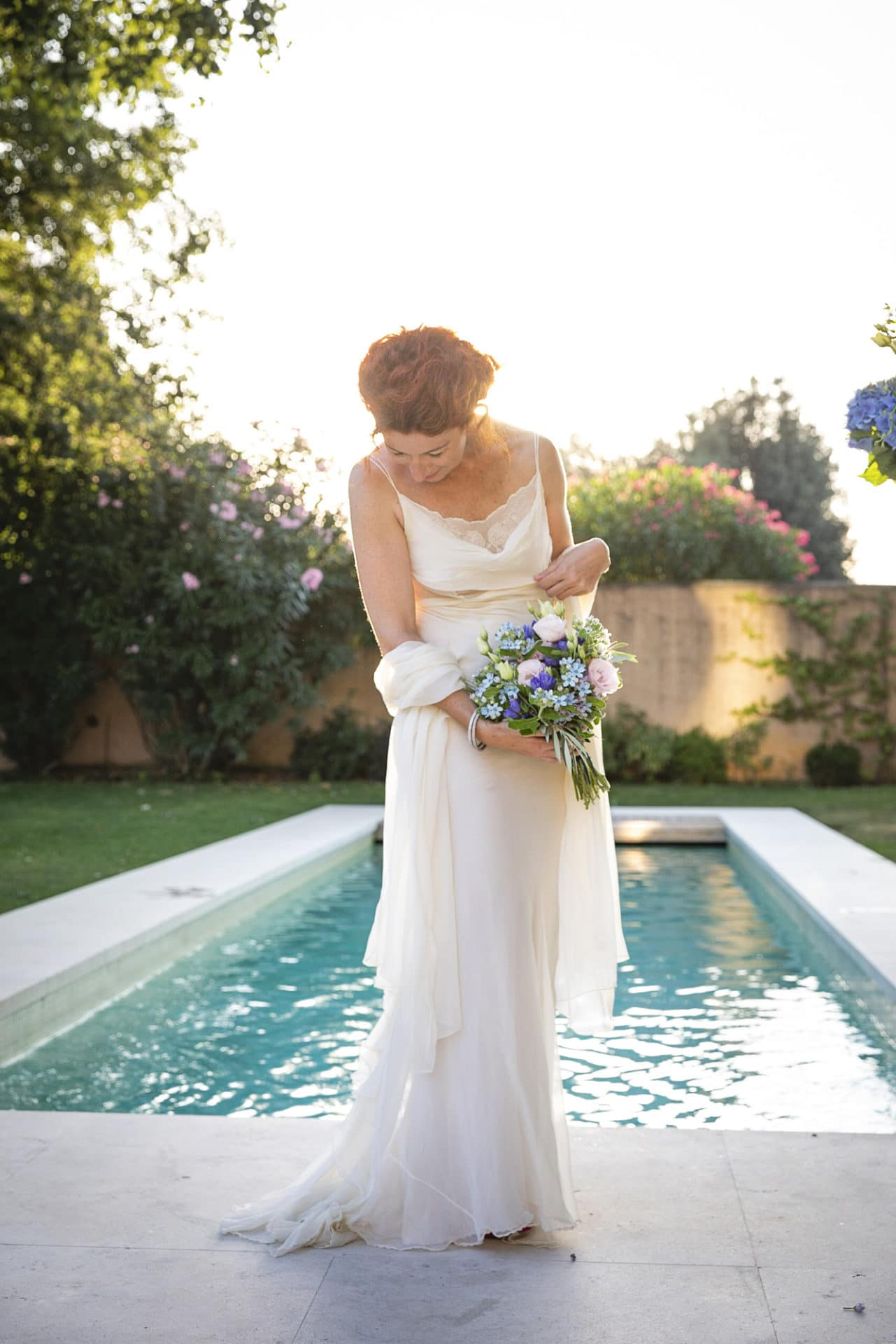 Blue Floral Vow Renewal in Florence